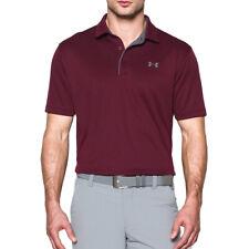 Under Armour Mens Golf Tech Wicking Textured Soft Light Polo Shirt