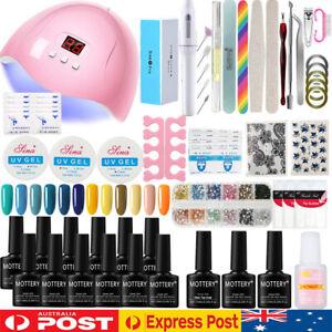 12 colors Full Gel Nail Polish Starter Kit + UV LED Lamp Dryer Nail Manicure Set