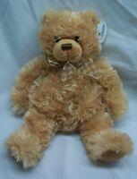 "Wishpets TAN LINDSEY TEDDY BEAR W/ BOW 10"" Plush STUFFED ANIMAL Toy 2006 NEW"