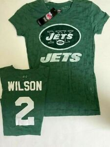 ZACH WILSON NEW YORK JETS WOMANS MED LARGE NAME AND NUMBER SHIRT TEAM NFL NEW EV