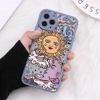 Luxury Tarot Bumper Phone Case Sun Moon Protection Cover For iPhone 12 11 X XS 8