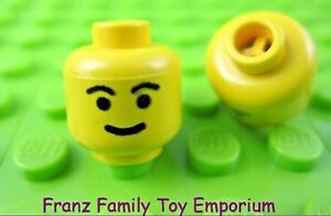 Lego 2 Yellow Minifigure Head Eyebrows Classic Male Female EUC H55