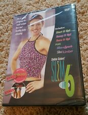 Debbie Siebers Slim In 6 (DVD) includes Thin Thighs & Cardio Core Express NEW