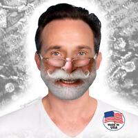 Santa Claus Mustache&Glasses Christmas face/mouth mask-Reusable,Soft-Free Shipng