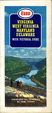 1942 VA/WV/MD/DE Road Map from Std. Oil of New Jersey (Esso)