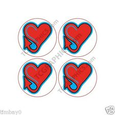 Plymouth Makes It Heart Sticker 4-1 inch hub cap