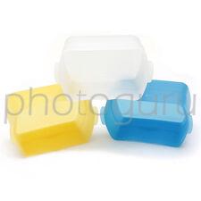 SET DIFFUSORI - GIALLO BIANCO BLU - softbox per flash esterno SIGMA 500 530