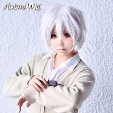 Naruto Hatake Kakashi Soul Eater Weiß cosplay Wig Perücke Fasching mit Kappe