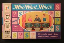 Vintage The Who, What, or Where Game by Milton Bradley - 1970 Edition COMPLETE