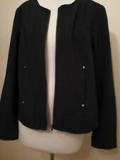 Katies Size 14 Bomber Jacket Black With Zipper RRP $79.95