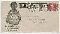 1915 Ellis Time Stamp ad cover Chicago IL [y3661]