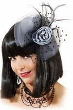 Señoras Plata Burlesque Años 20 20 Mini Sombrero Accesorio Para Pelo Disfraz