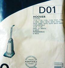 MENALUX D01 - 20 sacs pour aspirateur HOOVER FUTURA 1116 1124 1126 POWERDRIVE