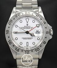 Rolex Explorer II 16570 GMT 40mm Oyster White Dial Men's Watch Box Papers Mint