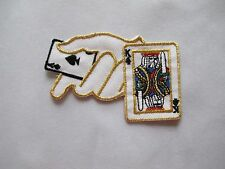 #3626 Poker Cards Casino Gambling Embroidery Iron On Applique Patch