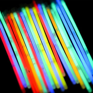 100 Glow Sticks Bracelets Premium Neon Light Glowing Party Favors Rally Raves
