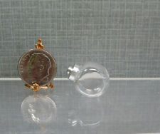 """Dollhouse Miniature 3/4"""" Long Glass Penny Candy Jar with Removable Cover"""