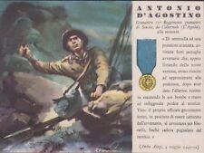 Cartolina Militare R.Ferrari Medaglia D'Oro Antonio D'Agostino n102 Non Viaggiat