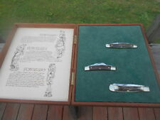 """VINTAGE 1970's BOKER """"THE STORY TELLERS"""" 3-PIECE KNIFE SET LIMITED EDITION"""
