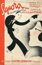 SPARTITO,1930,SIGNORA...,FARKAS,NORDIO,LEHNER,SUVINI ZERBONI MILANO,GARRETTO