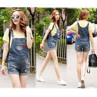 Maternity Dungarees Jeans Shorts Pants Denim Jumpsuits Cute Trendy 8 10 12 14 16