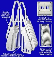 Neptune Above Ground Swimming Pool A-Frame Ladder Entry System - Color = White