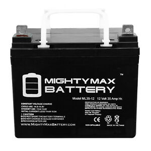 Mighty Max 12V 35AH SLA Battery For Pride Mobility Jazzy Select Elite Power Chai