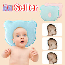 Baby Infant Newborn Anti Roll Support Prevent Flat Head Neck Memory Foam Pillow