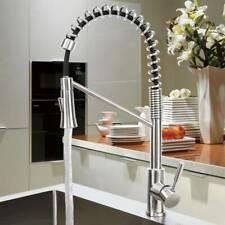 Kitchen Faucet Swivel Spout Pull Down Sprayer Deck Mount Sink Mixer Tap 1 Handle