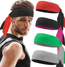 Women Men Tennis Headband Sweat Band Fitness Running Patchwork Elastic Hairband