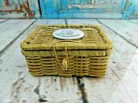 The Inn at Little Washington Mini Wicker Basket Trinket Keepsake Box Souvenir