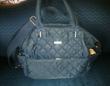 e30f049efc301 Storksak Bobby Quilted Navy Nappy Diaper Bag & Baby Changing Mat