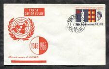 p760 - HONG KONG 1966 FDC Cover. UNESCO. Kowloon Cancel