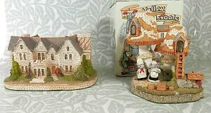 FRASER CREATIONS Lot of 2 Ornaments: Milton Manor Scotland & Tinto Toadstools