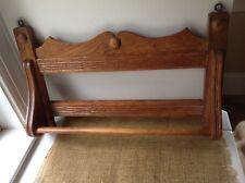 Vintage Wood Towel Rack Farmhouse Oak Towel Bar