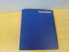 Krauss Maffei KM 1100/12000/MX Injection Molding Machine Mechanical Drawings