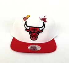 Mitchell & Ness NBA Chicago Bulls White / Red Dual pin snapback Hat Cap