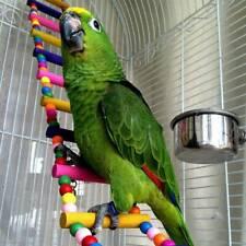 Wooden Climb Stand Parrot Bird Climbing Toys Rope Parakeet Cockatiel Cableway