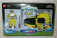 Power Rangers Lost Galaxy Yellow Jet Jammer Vehicle & Action Figure Bandai 1998