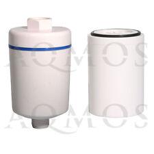 1 Duschfilter Weiß + 1 Wechselfilter Kalkfilter Allergie Reisefilter Chlor Rost