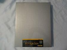 """Lineco 11x14"""" Clamshell Folio Storage Box, 1.75"""" Deep, metal Edge Archival Box"""