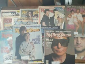 14 Vintage Issues of Rolling Stone Magazine, 1977-1981