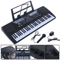 61 Key Digital Music Electronic Keyboard Kids Electric Piano Organ Gift Black