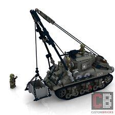 CUSTOM PDF Bauanleitung WW2 WWII M32 Sherman Bergepanzer Panzer für LEGO® Steine