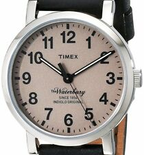 PRE-OWNED $95 Timex Mens Originals Stainless Steel Leather Watch TW2P58800AB