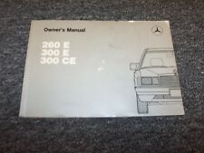 1989 Mercedes Benz 260E 300E 300CE Owner Owner's Operator User Guide Manual 3.0L