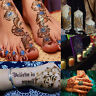 6 Color Natural Herbal Henna Cones Temporary Tattoo Body Art Paint Mehandi Ink