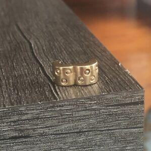 Authentic Pandora Seeing Spots 14k Gold Clip Charm 750345 ALE585