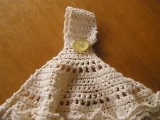 Hand Towel - Crochet top - Double sided - Great Xmas Stocking Fillers