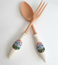 Vintage 80s Yellowstone National Park Serving Collectible Spoon Fork Kitch Decor